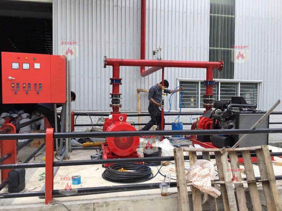 Thi công lắp đặt báo cháy chữa cháy tại Long An