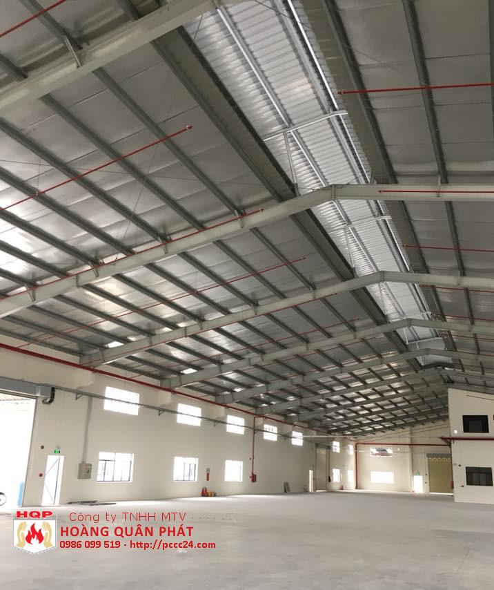 Lắp đặt hệ thống PCCC cho nhà xưởng tại Tân Uyên